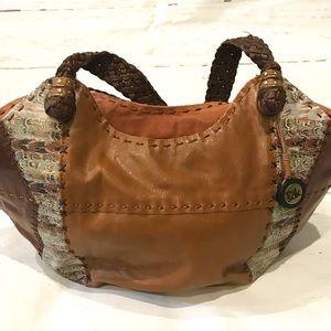 The Sak Patchwork Hobo Bucket Handbag/Purse EUC